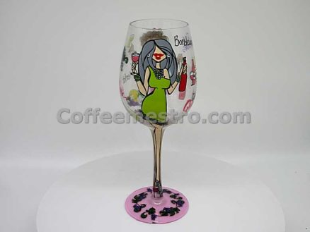 """95 & Sunny Wine Glass Collection """"Bottom's Up"""" Wine Glass"""