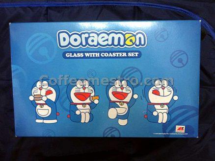 Doraemon Glass with Coaster Box Set (4 Glasses and 4 Coasters)