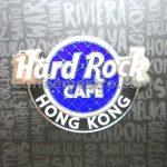 Hard Rock Cafe Hong Kong Bling Logo Pin Blue