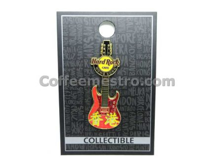 Hard Rock Cafe Hong Kong Chinese Guitar Pin