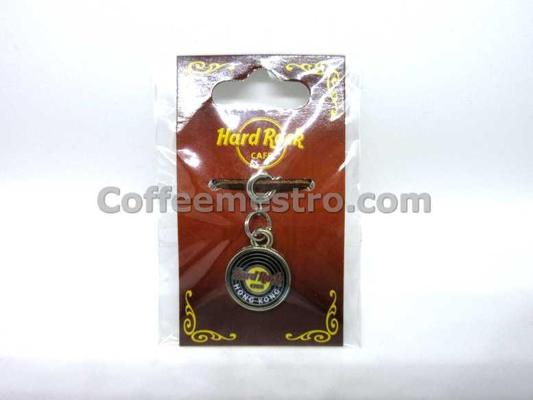 Hard Rock Cafe Hong Kong City Logo Record Charm
