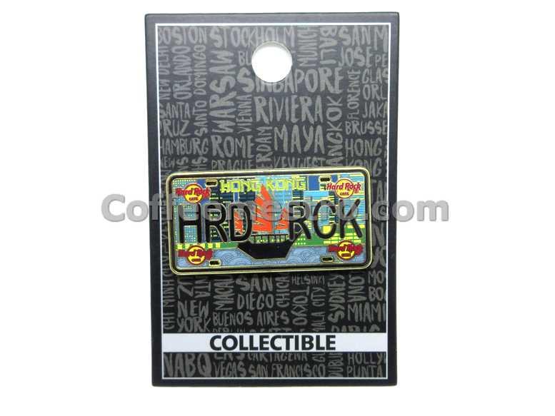 Hard Rock Cafe Hong Kong License Plate Pin
