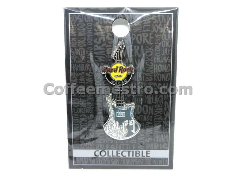 Hard Rock Cafe Macau Chinese Guitar Pin