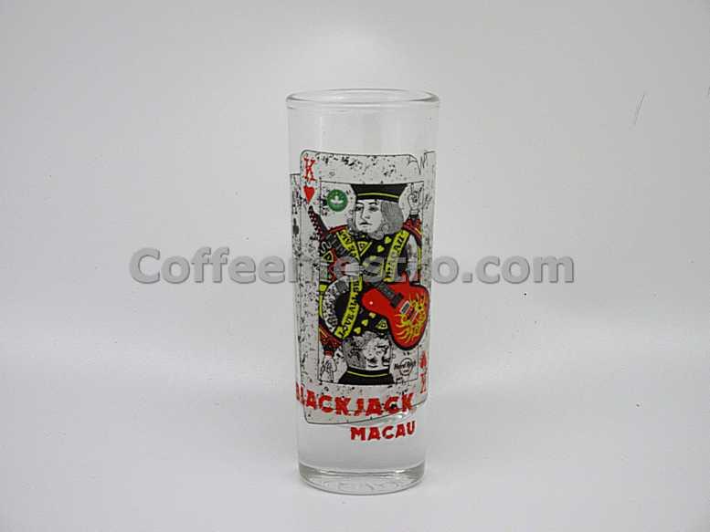 Hard Rock Cafe Macau Cordial Glass (Blackjack)
