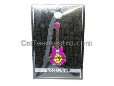 Hard Rock Cafe Macau Exclusive Core Guitar Pin Purple