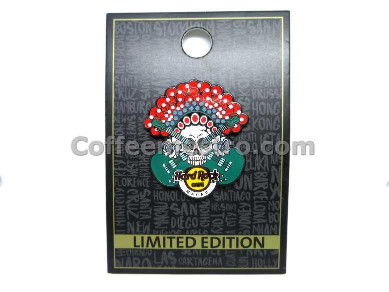 Hard Rock Cafe Macau HRC Opera Skull Green Pin Limited Edition