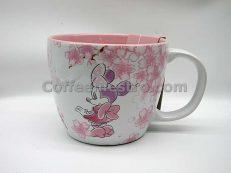 Hong Kong Disneyland Minnie Mouse Cherry Blossom Souvenir Mug