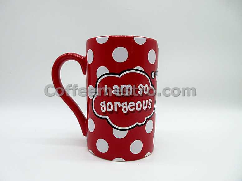 "Hong Kong Disneyland Minnie Mouse ""I am so Gorgeous"" Mug"