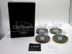 Nespresso View Collection 2 View Lungo Cups & 2 View Expresso Cups & 4 Saucers Box Set