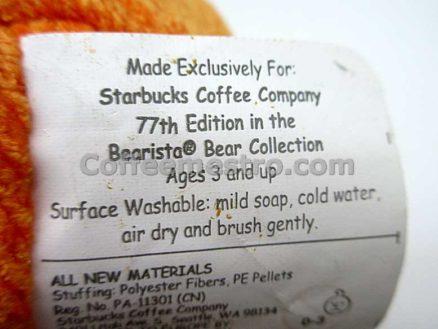 Starbucks 2008 Halloween Bearista Bear 77th Edition