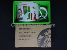 Starbucks 2oz You Are Here Singapore Mug / Ornament (Red Version)