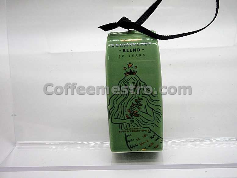 Starbucks 50th Anniversary Siren Coffee Bag Ornament