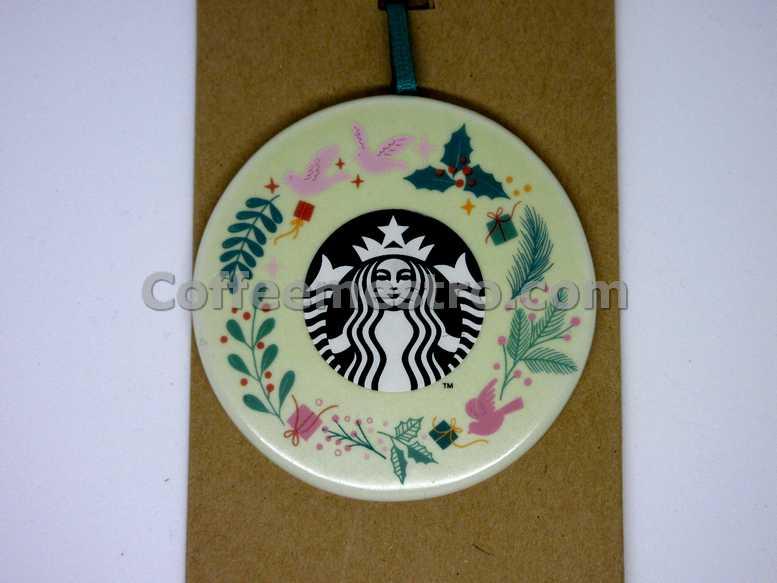 Starbucks Christmas Ceramic Ornament Holiday Wreath