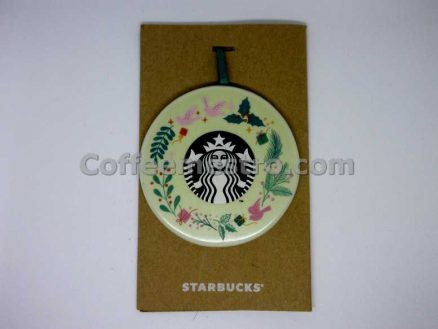 Starbucks Christmas Ceramic Ornament Holiday Wreath