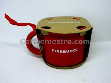 Starbucks Christmas Ceramic Ornament Red Santa