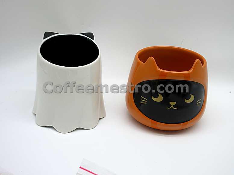 Starbucks Halloween Cat Mugs Set of 2