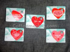 Starbucks Hong Kong Cards (Hearts) Set of 5