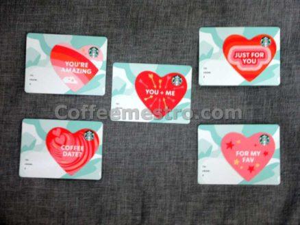 Starbucks Hong Kong Cards (Hearts) Set of 5