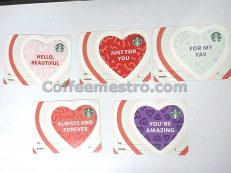 Starbucks Hong Kong Cards (Hearts) Set of 5 For Collector