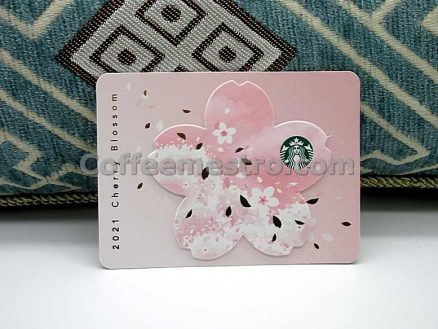 Starbucks Hong Kong Cherry Blossom 2021 Collectible Card for Collector