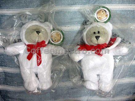 Starbucks Hong Kong Christmas 2019 Bearista Bears Set of 2 (Boy and Girl) 164th Edition