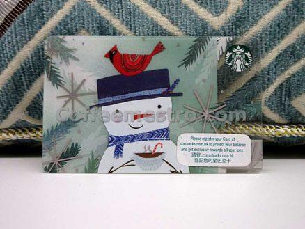 Starbucks Hong Kong Christmas Snowman Card