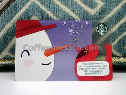 Starbucks Hong Kong Christmas Snowman Card