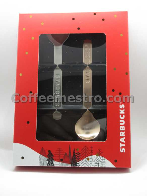 Starbucks Hong Kong Christmas Spoon Set of 2