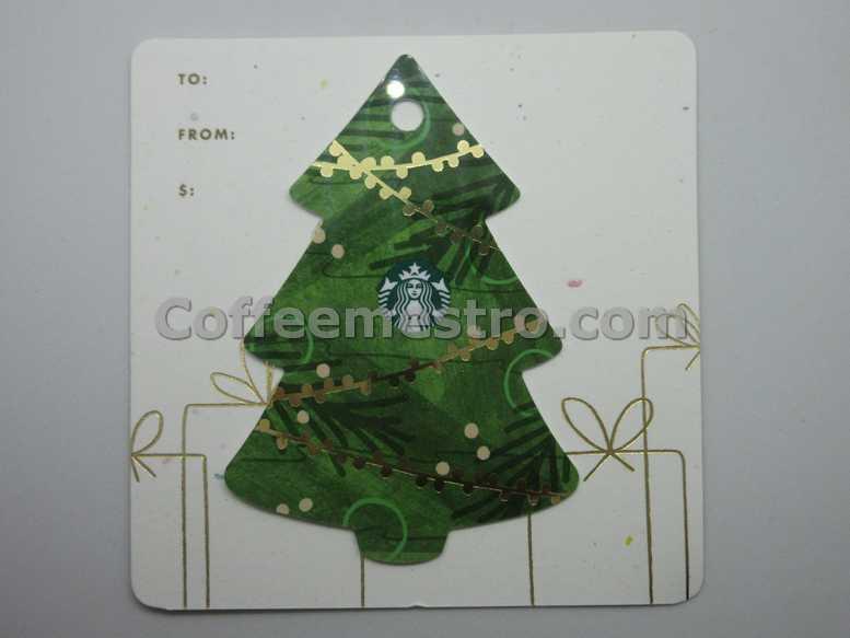 Starbucks Hong Kong Christmas Tree Card For Collector
