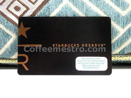 Starbucks Hong Kong Reserve Card