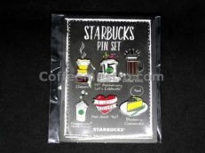 Starbucks Pin Set Macau Starbucks 15th Anniversary