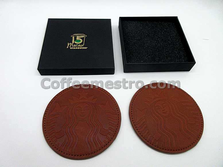 Starbucks Macau Year 2017 15th Anniversary Coaster Set of 2