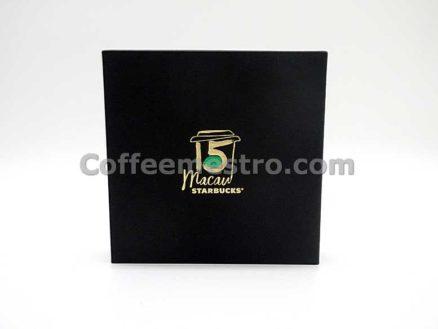 Starbucks Macau Year 2017 15th Anniversary Coaster Set of 2