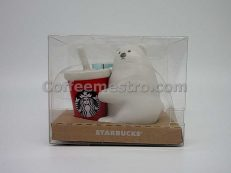 Starbucks Polar Bear Red Cup Ceramic Ornament