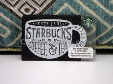 Starbucks Singapore Coffee Cup Card
