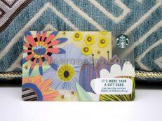Starbucks Singapore Flowers Card