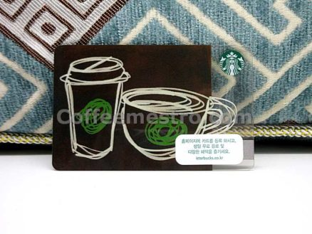 Starbucks South Korea Coffee Cups Card
