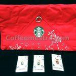 Starbucks Taiwan Christmas Hanging Advent Calendar Bag with 3 Pins Box Set