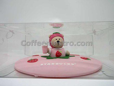 Starbucks Taiwan Silicone Strawberry Bear Mug Cover