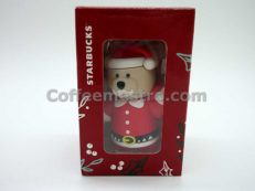 Starbucks Taiwan Teddy Bear Ornament (Christmas Santa Claus Edition)