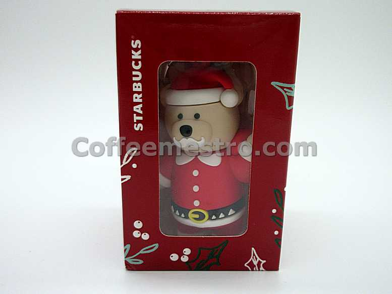 Starbucks Taiwan Teddy Bear Ornament (Christmas Santa Claus Edition)