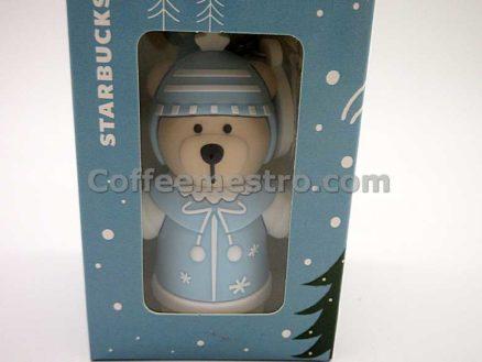 Starbucks Taiwan Teddy Bear Ornament (Christmas Winter Blue Version)