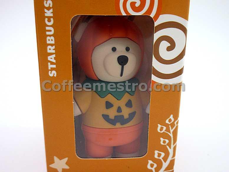 Starbucks Taiwan Teddy Bear Ornament (Halloween Pumpkin Edition)
