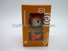 Starbucks Taiwan Teddy Bear Ornament (Halloween Pumpkin Edition)