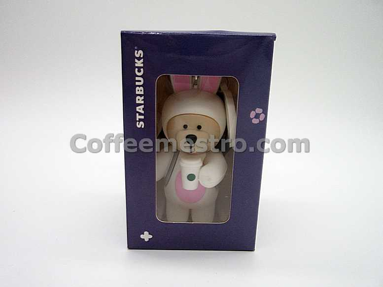 Starbucks Taiwan Teddy Bear Ornament (Mid–Autumn Festival Rabbit Edition)