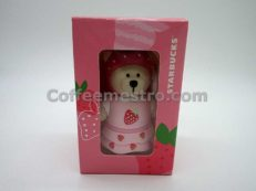 Starbucks Taiwan Teddy Bear Ornament (Strawberry Edition)