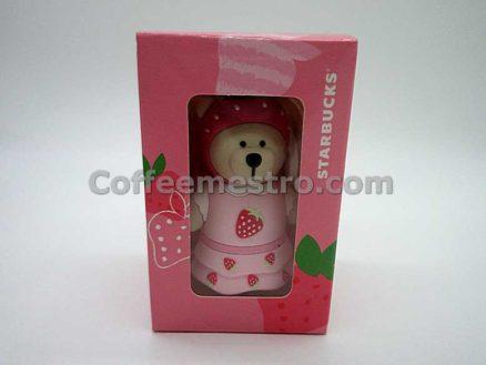 Starbucks Taiwan Teddy Bear Ornament (Strawberry Edition)
