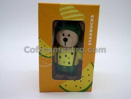 Starbucks Taiwan Teddy Bear Ornament (Watermelon Edition)